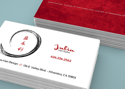 Julia Salon Business Card
